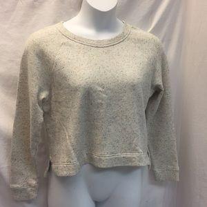 NWT Lou & Grey Crop Sweatshirt Sz M
